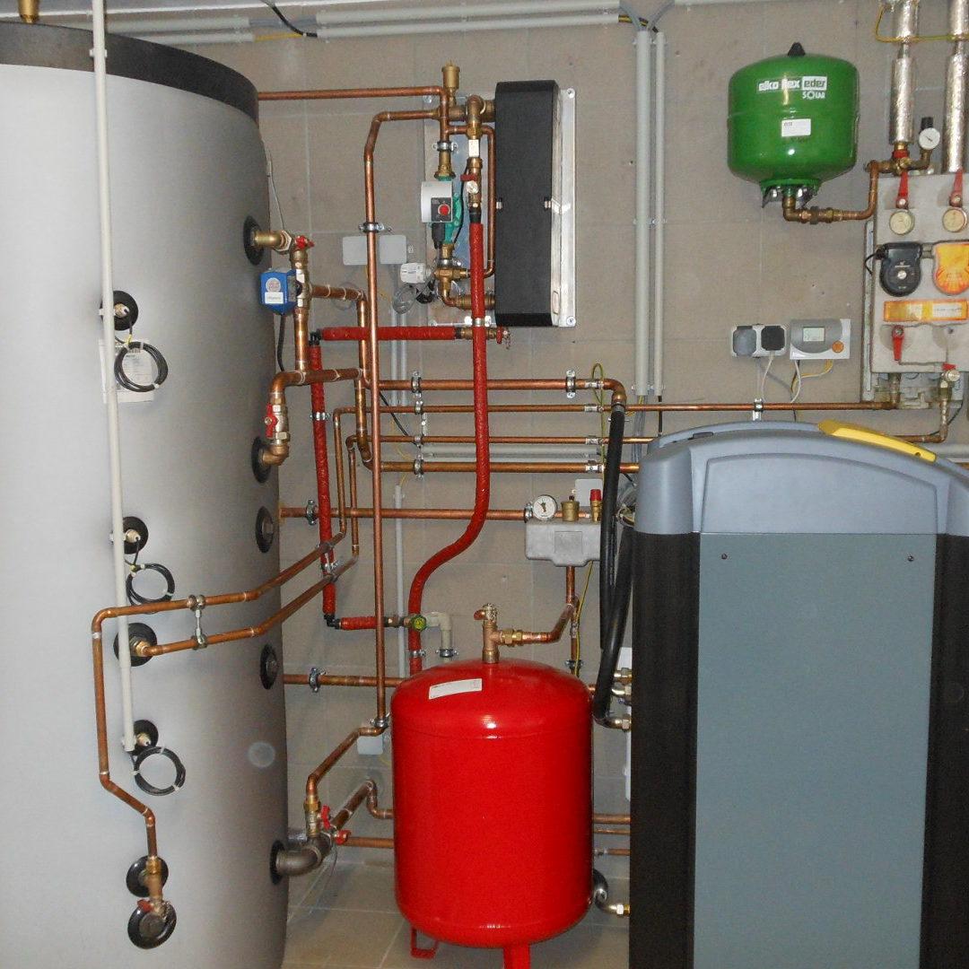 Heizraum mit Grundwasserwärmepumpe 3