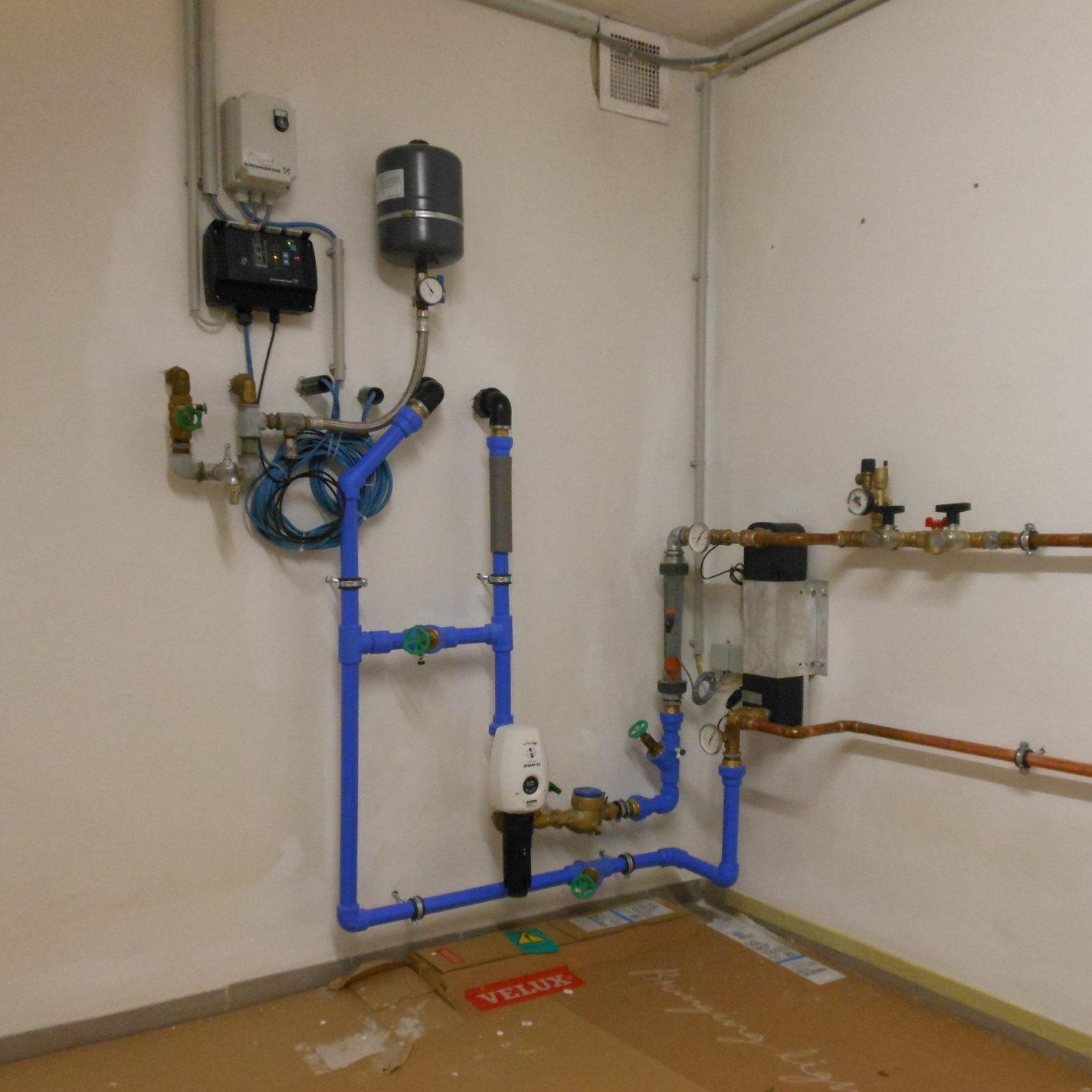 Heizraum mit Grundwasserwärmepumpe 2